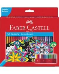 Faber castell étui 60 crayons de couleur CHATEAU 111260