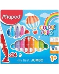Maped pochette 24 feutres de coloriage jumbo colorpeps 846222