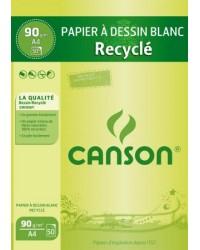 Canson 50F papier à dessin recyclé A4 90G 200001093