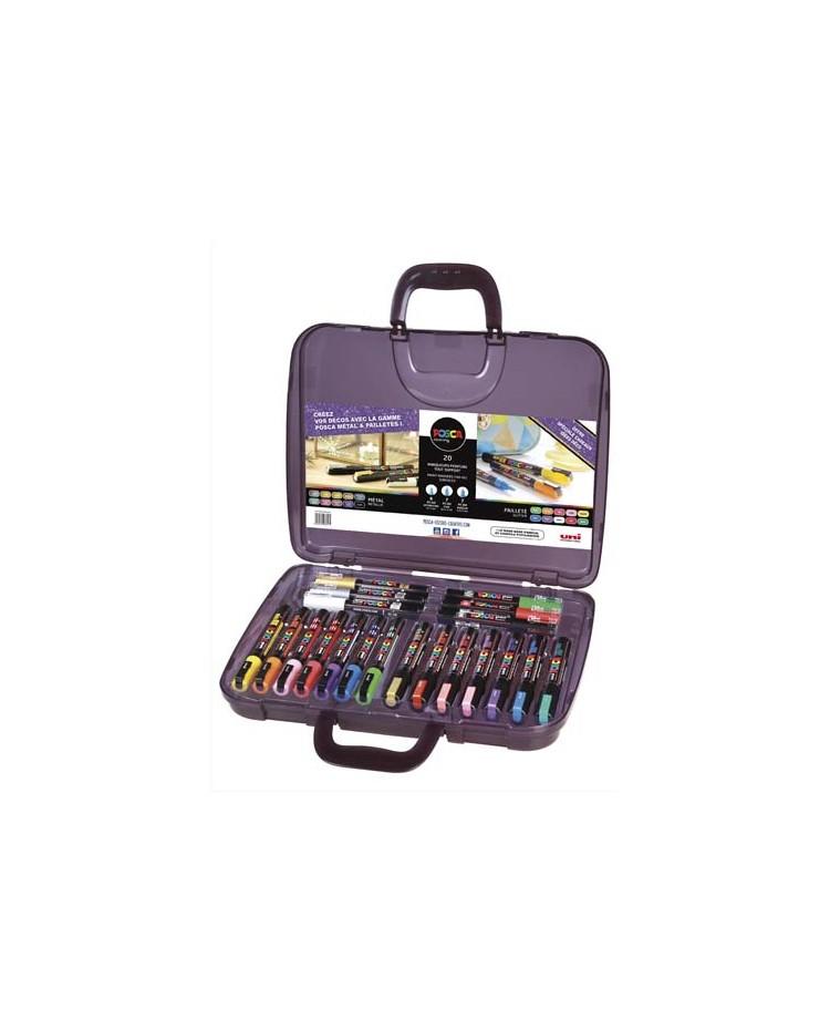 POSCA Marqueur à pigment, mallette de 20 pièces assorties, POSCA/20 007
