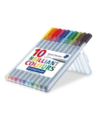 Staedtler chevalet 10 stylos feutre triplus fineliner 0.3MM brillants 334 SB10
