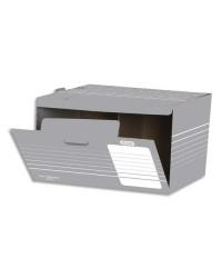 Elba conteneur carton ouverture frontale long terme GRIS 100552040