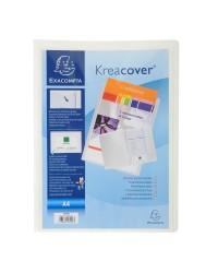 Exacompta Chemise personnalisable, Kreacover, 2 rabats, Plastique polypro, Blanc, 43008E