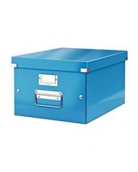 LEITZ Boîte de rangement Click & Store WOW, A4, bleu, 60440036