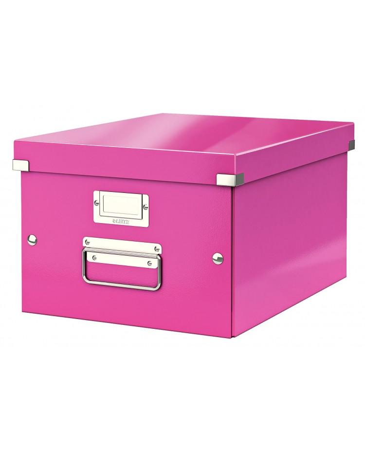 leitz boite classement click&store a4 wow rose 60440023