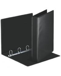 Esselte Classeur personnalisable, Dos 50mm, 2 faces, 4 anneaux, Essentials, Noir, 49717