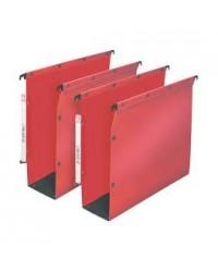 Elba 10 dossiers suspendus plastique armoire fond 50MM renforcés polypro ROUGE 100330593