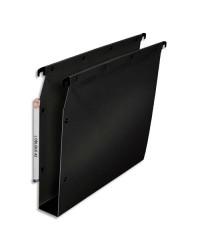 Elba 10 dossiers suspendus plastique armoire fond 50MM renforcés polypro NOIR 100330613