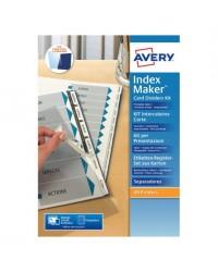 Avery 6 intercalaires en carte INDEX MAKER A4+ 01998061