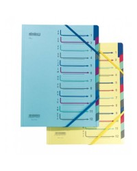 Extendos Trieur à élastique série 43, 12 compartiments, bleu, 43.12