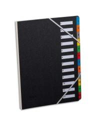 Extendos Trieur numérique, A4, 1-12, 12 compartiments, noir, 337.12
