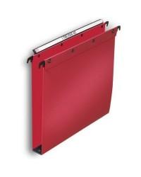 Elba 10 dossiers suspendus plastique tiroir fond 30MM polypro ROUGE 100330387
