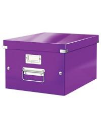 LEITZ Boîte de rangement Click & Store WOW, A4, violet, 60440062