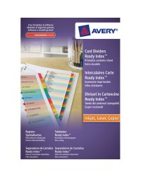 AVERY Intercalaires Readyindex, 12 touches numériques, A4? 01736501