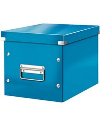 LEITZ Boîte de rangement Click & Store WOW Cube M, bleu, 61090036