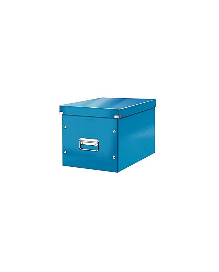 LEITZ Boîte de rangement Click & Store WOW Cube L, bleu, 61080036