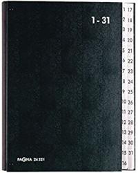 PAGNA Trieur à soufflet, format A4, 1-31, noir, 24321-04