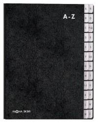 PAGNA trieur, format A4, 24 positions, A - Z, noir, 24246-04
