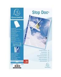 Exacompta Pochettes plastique perforées, A4, Stop Doc, Sachet de 25, 5875E