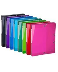 Exacompta boite de classement plastique dos 4 cm IDERAMA polypro couleurs assorties 59770E