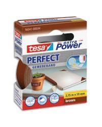 Tesa Ruban adhésif toile, Extra power, Perfect, Marron, 19mm x 2.75m, 563410003403