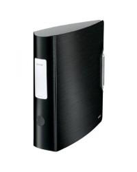 Leitz Classeur à levier, Active style, Dos 80mm, 180°, Plastique polypro, Noir satin, 11080094