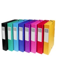 Exacompta boite de classement dos 6 cm en carte EXABOX couleurs assorties 50600E