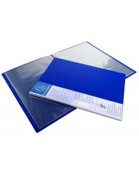 Exacompta protège documents rigide UP LINE 80 vues polypro opaque BLEU 88402E