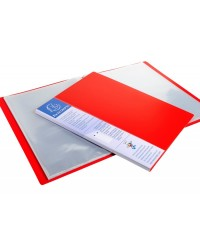 Exacompta protège documents rigide UP LINE 40 vues polypro opaque ROUGE 88205E