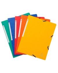 Exacompta chemise carte à élastiques sans rabat couleurs assorties 55410E