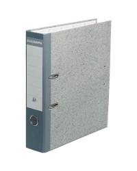 Exacompta Classeur à levier, Dos 70mm, Perforateur intégré, Papier marbré gris, 52070E