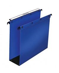 Elba 10 dossiers suspendus plastique tiroir fond 80MM polypro BLEU 100330379