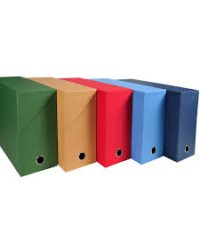 Exacompta Boites de classement, Transfert, Toile, 120mm, Assorti, 89420E