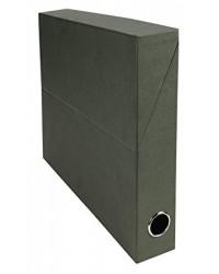Exacompta Boite de classement, Transfert, 50mm, Pate naturelle, Vert, 83123E