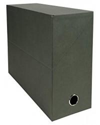 Exacompta Boite de classement, Transfert, 120mm, Pate naturelle, Vert, 83143E