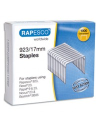 Rapesco  boîte de 1000 agrafes 923 17mm 1240