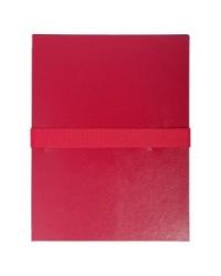 Exacompta Chemise extensible, Sangle auto agrippante, Velcro, Balacron, Bordeaux, 624E