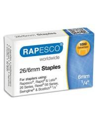 Rapesco boîte de 1000 agrafes 26/6 S11661Z3