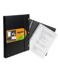 Rhodia Cahier A4+, EXABOOK, Rechargeable, Quadrillé 5x5, 160 pages petits carreaux, 132142