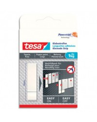 Tesa Powerstrips, Languettes adhésives, 1kg, Blanc, boîte de 6, 77771-00000-00