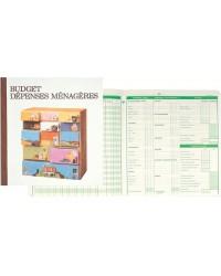 Exacompta registre budget familial dépenses ménagères 25X27 56 pages 78E