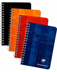Clairefontaine Carnet à spirale, 110x170mm, Quadrillé 5x5, 180 pages petits carreaux, 8602C