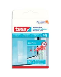 Tesa Powerstrips, Languettes adhésives transparentes, Surface en verre, boîte de 8, 77733-00000-00