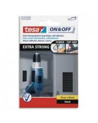 Tesa On & Off, Bandes auto agrippantes, Ultra résistante, 50 x 100mm, Noir, 55228-02