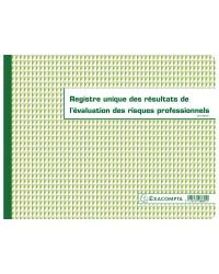 Exacompta registre unique des résultats de l'évaluation des risques professionnels 6617E
