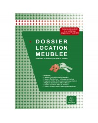 Exacompta Dossier de location, Habitation meublée, Résidence principale, 49E