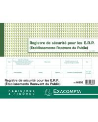 Exacompta registre de sécurité pour les ERP établissements recevant du publique 6623E