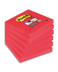 Post-it Notes adhésives, 76x76mm, Rouge coquelicot, Super sticky, 654-6SS-PO / 70005198125 / BP837