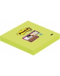 Post-it Notes adhésives, 76x76 mm, Vert tilleul, Super sticky, 654-6SS-AW-EU / 6546SA / BP836 / 70005198141