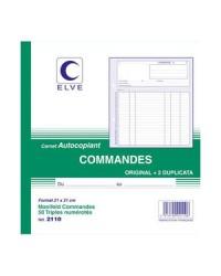Elve Carnet Commandes, 210x210mm, 50 Triplicata autocopiants, 2110